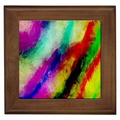 Colorful Abstract Paint Splats Background Framed Tiles by Nexatart