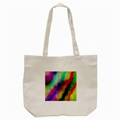 Colorful Abstract Paint Splats Background Tote Bag (cream) by Nexatart