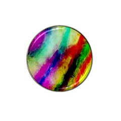 Colorful Abstract Paint Splats Background Hat Clip Ball Marker by Nexatart
