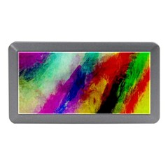 Colorful Abstract Paint Splats Background Memory Card Reader (mini) by Nexatart