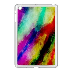 Colorful Abstract Paint Splats Background Apple Ipad Mini Case (white) by Nexatart