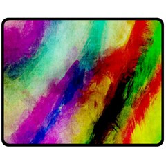 Colorful Abstract Paint Splats Background Double Sided Fleece Blanket (medium)  by Nexatart
