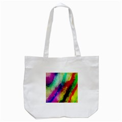 Colorful Abstract Paint Splats Background Tote Bag (white) by Nexatart