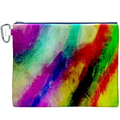 Colorful Abstract Paint Splats Background Canvas Cosmetic Bag (xxxl) by Nexatart