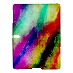 Colorful Abstract Paint Splats Background Samsung Galaxy Tab S (10 5 ) Hardshell Case  by Nexatart