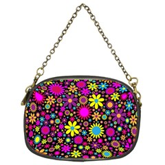 Bright And Busy Floral Wallpaper Background Chain Purses (two Sides)  by Nexatart
