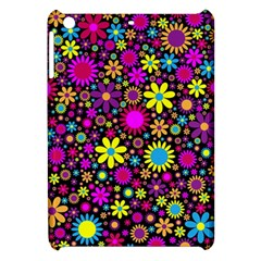 Bright And Busy Floral Wallpaper Background Apple Ipad Mini Hardshell Case by Nexatart