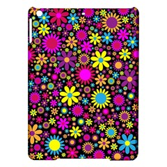 Bright And Busy Floral Wallpaper Background Ipad Air Hardshell Cases by Nexatart