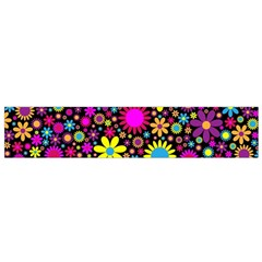 Bright And Busy Floral Wallpaper Background Flano Scarf (small) by Nexatart