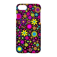 Bright And Busy Floral Wallpaper Background Apple Iphone 7 Hardshell Case by Nexatart