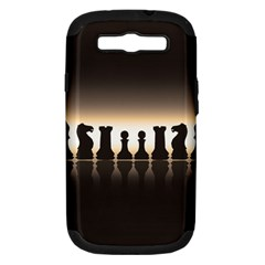 Chess Pieces Samsung Galaxy S Iii Hardshell Case (pc+silicone) by Valentinaart