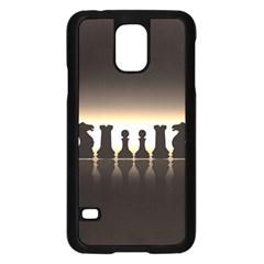 Chess Pieces Samsung Galaxy S5 Case (black) by Valentinaart