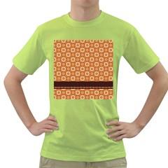 Floral Seamless Pattern Vector Green T Shirt