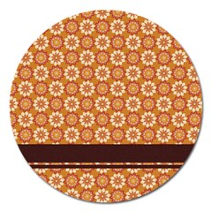 Floral Seamless Pattern Vector Magnet 5  (round) by Nexatart