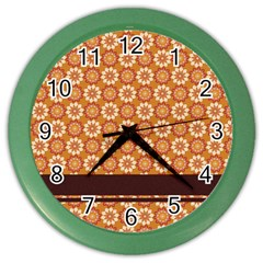 Floral Seamless Pattern Vector Color Wall Clocks by Nexatart