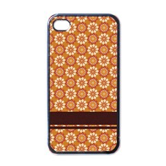 Floral Seamless Pattern Vector Apple Iphone 4 Case (black) by Nexatart