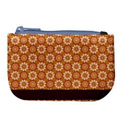 Floral Seamless Pattern Vector Large Coin Purse by Nexatart