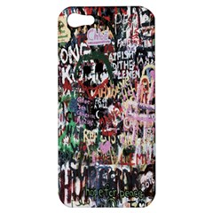 Graffiti Wall Pattern Background Apple Iphone 5 Hardshell Case by Nexatart