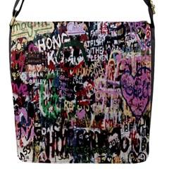 Graffiti Wall Pattern Background Flap Messenger Bag (s) by Nexatart