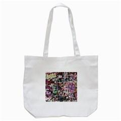 Graffiti Wall Pattern Background Tote Bag (white) by Nexatart