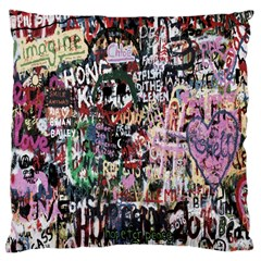 Graffiti Wall Pattern Background Standard Flano Cushion Case (one Side) by Nexatart