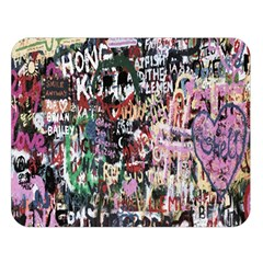 Graffiti Wall Pattern Background Double Sided Flano Blanket (large)