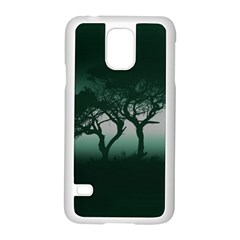 Sunset Samsung Galaxy S5 Case (white) by Valentinaart