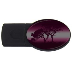 Sunset Usb Flash Drive Oval (4 Gb) by Valentinaart