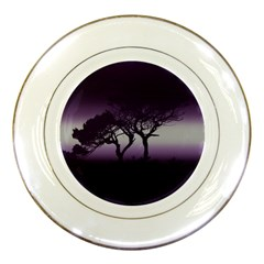 Sunset Porcelain Plates by Valentinaart