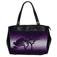 Sunset Office Handbags (2 Sides)  by Valentinaart