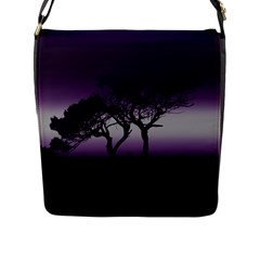 Sunset Flap Messenger Bag (l)  by Valentinaart