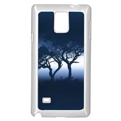 Sunset Samsung Galaxy Note 4 Case (white) by Valentinaart