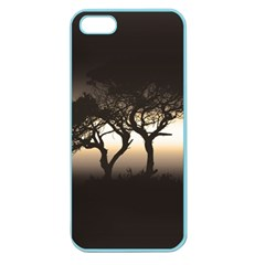 Sunset Apple Seamless Iphone 5 Case (color) by Valentinaart