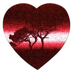 Sunset Jigsaw Puzzle (heart) by Valentinaart