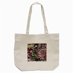 Graffiti Wall Pattern Background Tote Bag (cream) by Nexatart