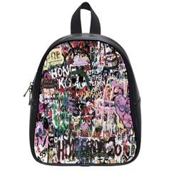Graffiti Wall Pattern Background School Bags (small)  by Nexatart