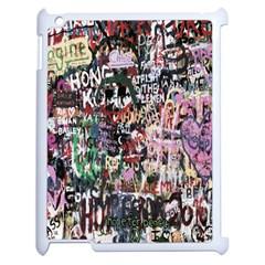 Graffiti Wall Pattern Background Apple Ipad 2 Case (white) by Nexatart