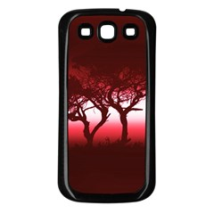 Sunset Samsung Galaxy S3 Back Case (black) by Valentinaart