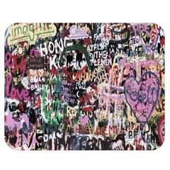 Graffiti Wall Pattern Background Double Sided Flano Blanket (medium)  by Nexatart