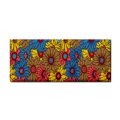 Background With Multi Color Floral Pattern Cosmetic Storage Cases by Nexatart