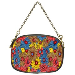 Background With Multi Color Floral Pattern Chain Purses (one Side)  by Nexatart