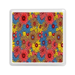 Background With Multi Color Floral Pattern Memory Card Reader (square)  by Nexatart