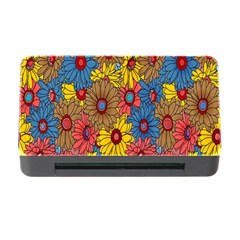 Background With Multi Color Floral Pattern Memory Card Reader With Cf by Nexatart