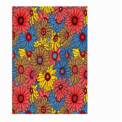 Background With Multi Color Floral Pattern Large Garden Flag (two Sides) by Nexatart