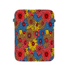 Background With Multi Color Floral Pattern Apple Ipad 2/3/4 Protective Soft Cases by Nexatart