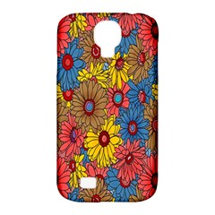 Background With Multi Color Floral Pattern Samsung Galaxy S4 Classic Hardshell Case (pc+silicone) by Nexatart