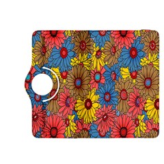 Background With Multi Color Floral Pattern Kindle Fire Hdx 8 9  Flip 360 Case by Nexatart