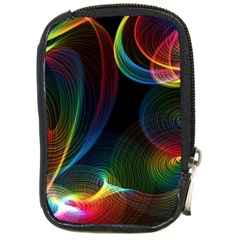 Abstract Rainbow Twirls Compact Camera Cases by Nexatart