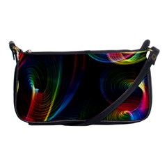 Abstract Rainbow Twirls Shoulder Clutch Bags by Nexatart