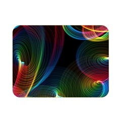 Abstract Rainbow Twirls Double Sided Flano Blanket (mini)  by Nexatart